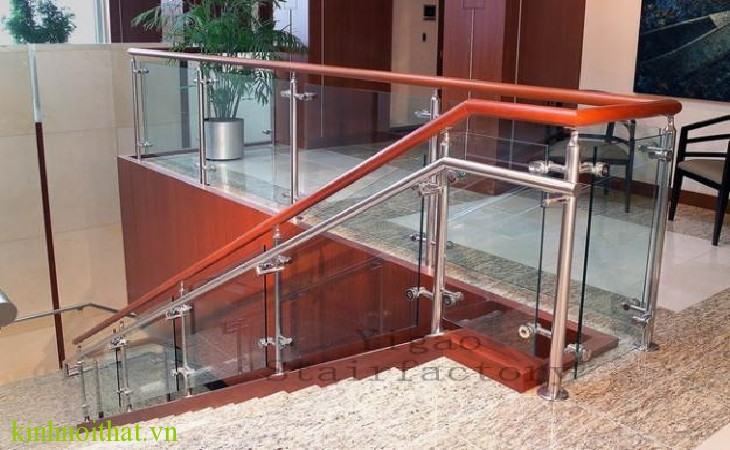 Cầu thang kính PA1 Cầu thang kính