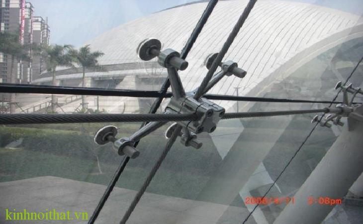 Hệ mặt dựng spider dây cáp Kính mặt dựng hệ Spider