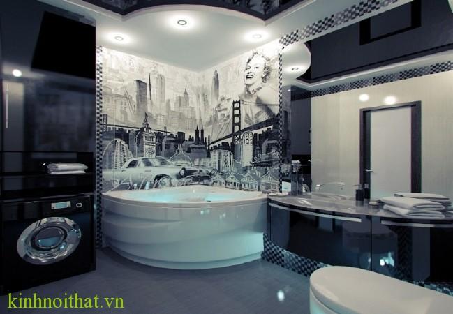 Phòng tắm kính nghệ thuật Phòng tắm kính PA2