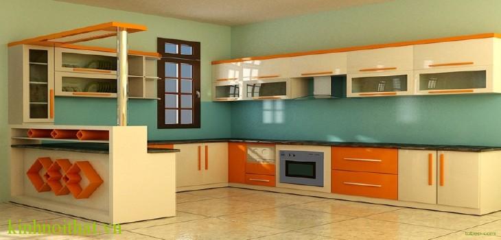 Kính màu ốp bếp Khách hàng sẽ chọn kính ốp bếp hay gạch ốp bếp ?