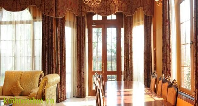 Cửa nhôm kính vân gỗ mở 1 cánh Ưu điểm nổi trội của cửa nhôm kính vân gỗ