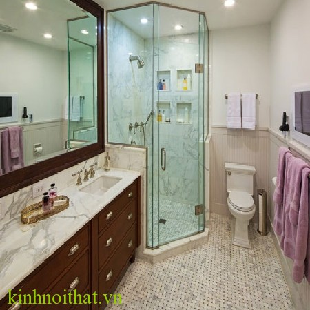 Phòng tắm kính góc 135 độ - 2 Ưu điểm phòng tắm kính mở góc 135 độ