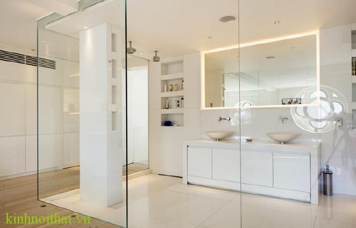 Phòng tắm kính sang trọng 3 Sự sang trọng là điểm cốt lõi của một không gian phòng tắm kính đẹp