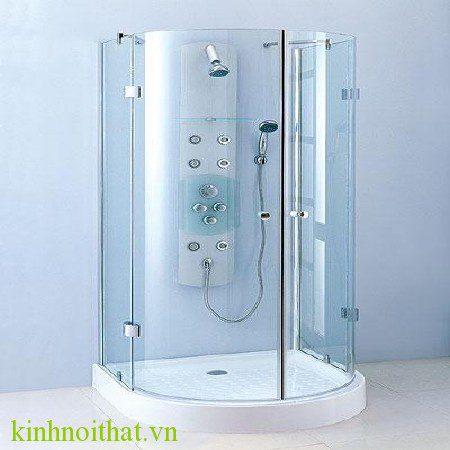 Vách tắm kính cong 1