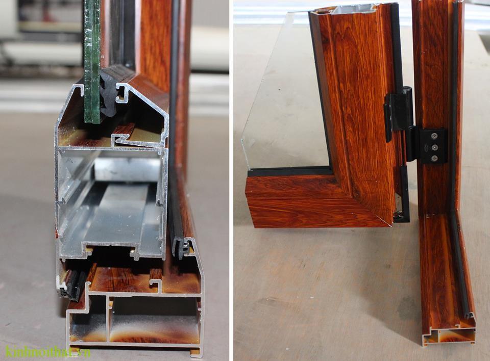 Mặt cắt cửa nhôm việt pháp Biết mẹo này bạn sẽ phân biệt được cửa nhôm và cửa nhựa