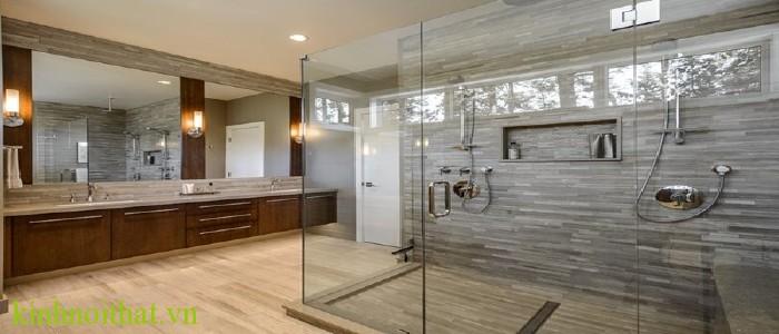 Vách kính phòng tắm Tầm quan trọng của vách kính cường lực trong cuộc sống
