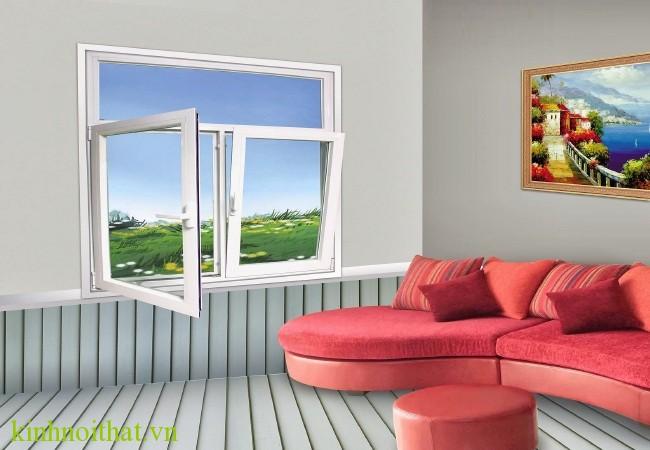 Cửa sổ nhôm việt pháp mở quay hai cánh Cần lắm một hệ cửa sổ nhôm việt pháp mở quay tiện ích