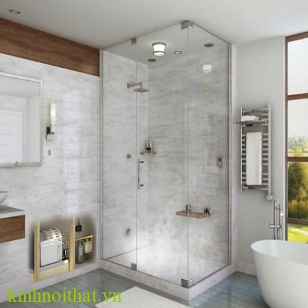 Phòng tắm kính vuông góc Mẫu phòng tắm kính đẹp