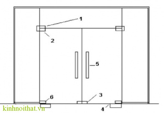 Bản vẽ cửa thủy lực 5 tấm Cửa thủy lực 5 tấm
