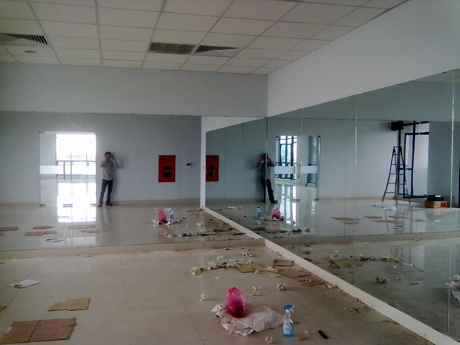 Gương phòng tập tại bán đảo linh đàm Gương phòng tập gym, yoga ,tập múa giá rẻ nhất tại hà nội