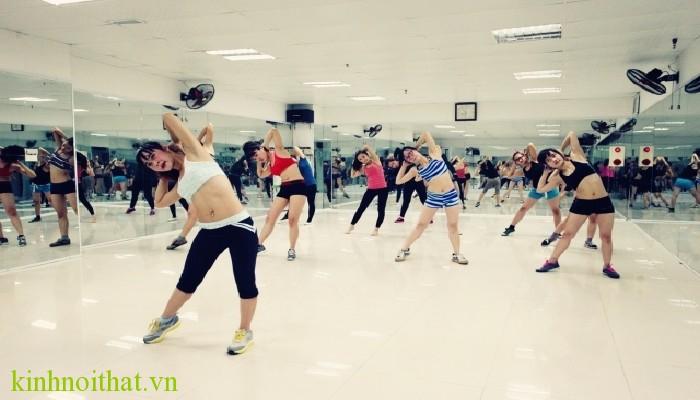 lắp gương phòng tập Gương phòng tập gym, yoga ,tập múa giá rẻ nhất tại hà nội