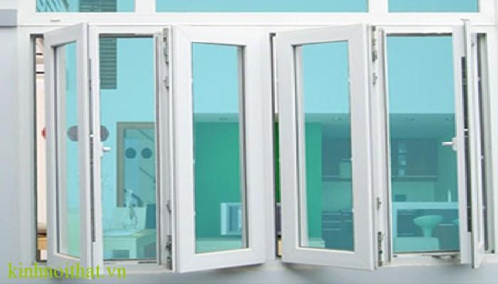 Cửa sổ nhôm kính 4 cánh mở quay Cửa sổ nhôm kính 4 cánh cấu tạo cao cấp, bền, đẹp