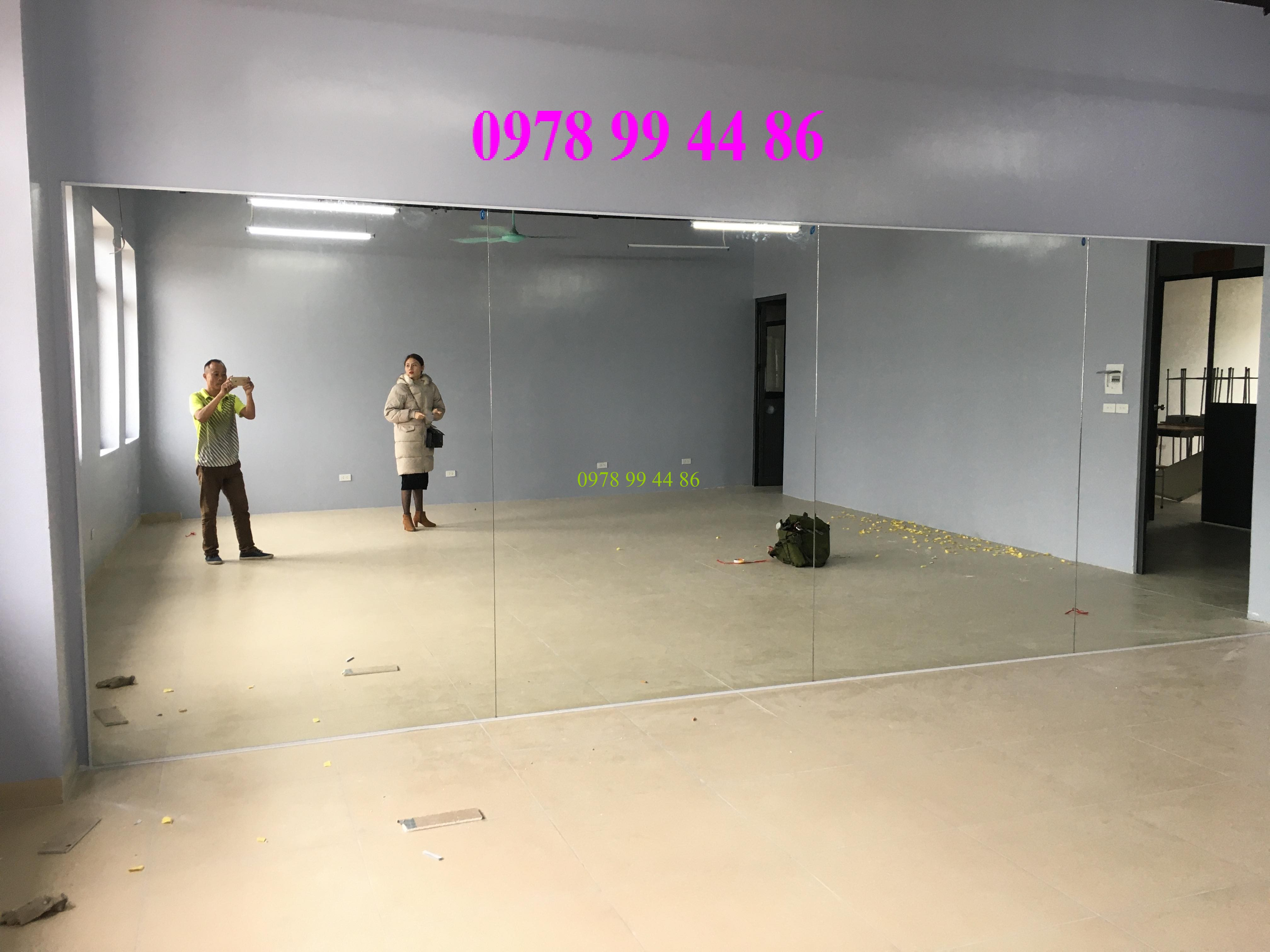 Gương phòng tập tại an dương tây hồ Báo giá gương phòng tập gym,yoga,múa