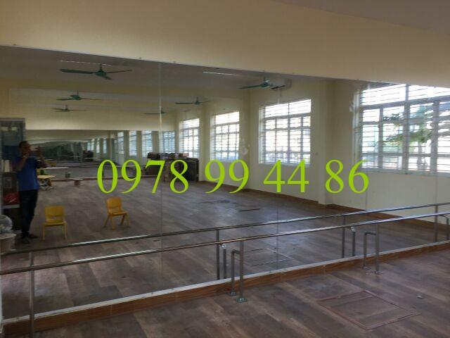 gương phòng tập 23456 Báo giá gương phòng tập gym,yoga,múa