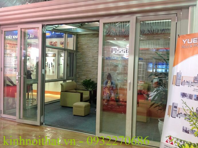 cửa nhôm việt pháp 4 cánh lùa Cửa nhôm việt pháp mở lùa 4 cánh hệ 2600 đẹp và rẻ nhất tại hà nội