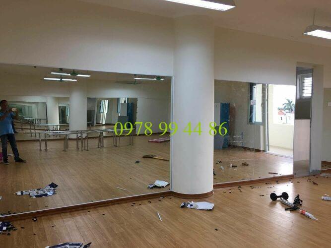 Báo giá gương phòng tập gym,yoga,múa