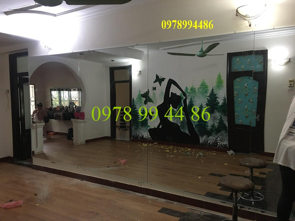 Gương phòng tập yoga 123 Gương phòng tập yoga